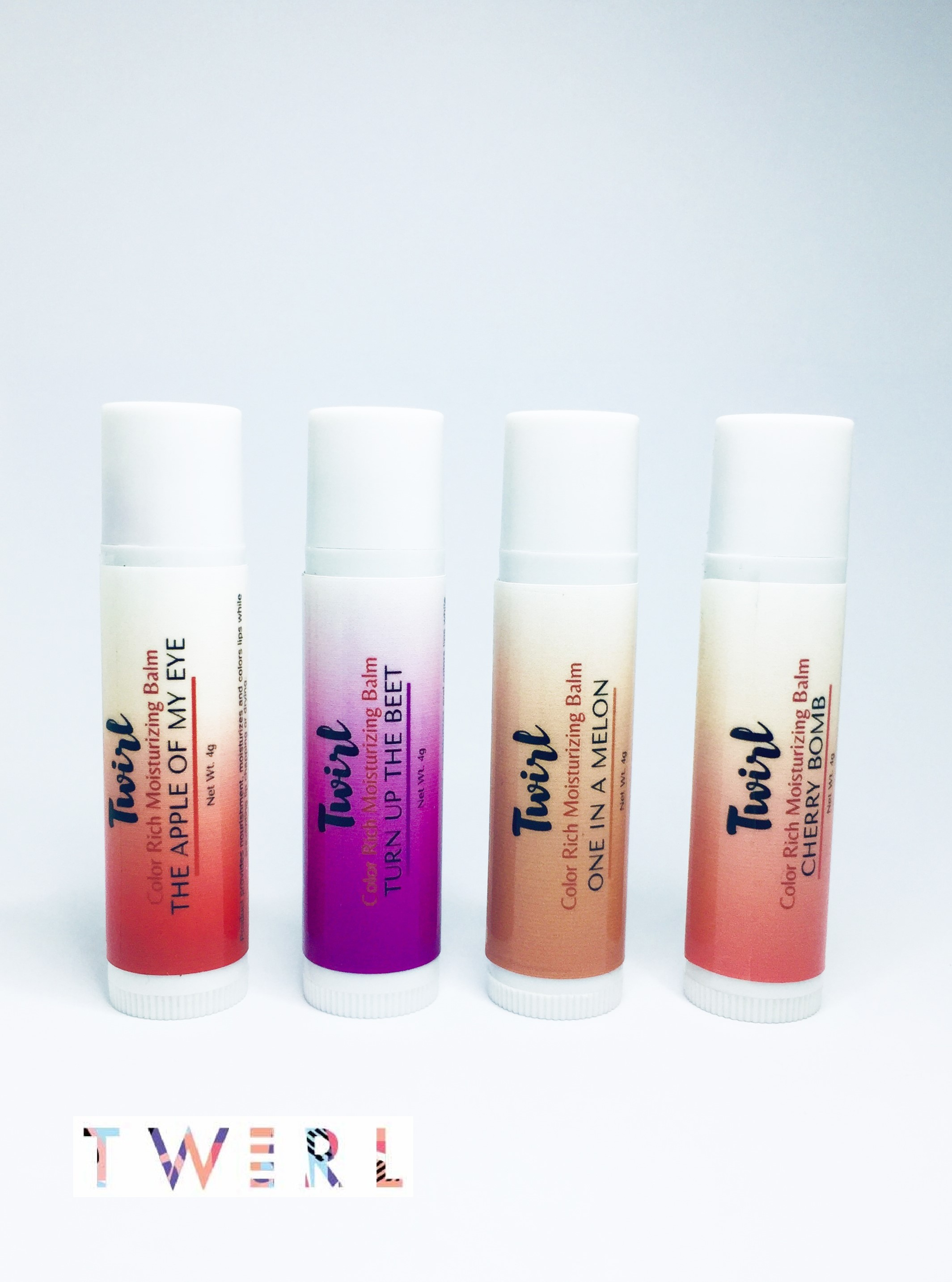 Twirl Lip Balm - Bundle of 4